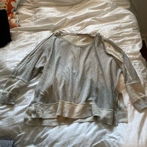 Grey pullover free people size small